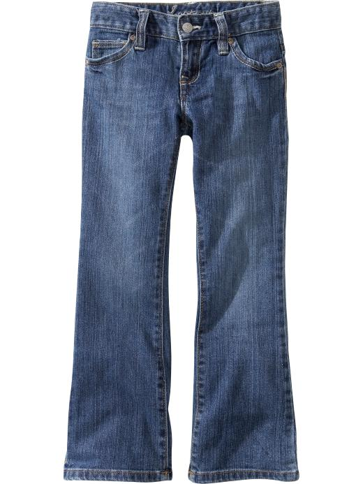 Old Navy Girls Two Tone Stitch Boot Cut Jeans - Bright authentic - Old Navy Canada