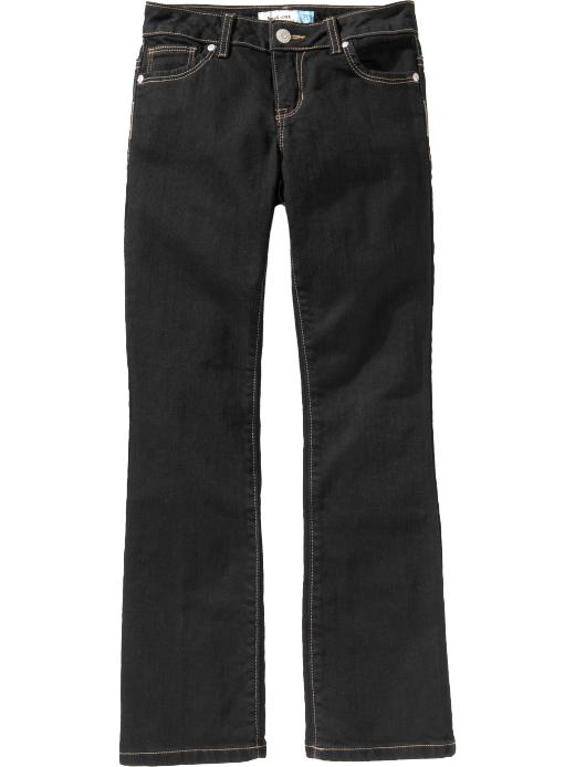 Old Navy Girls Black Denim Boot Cut Jeans - Black