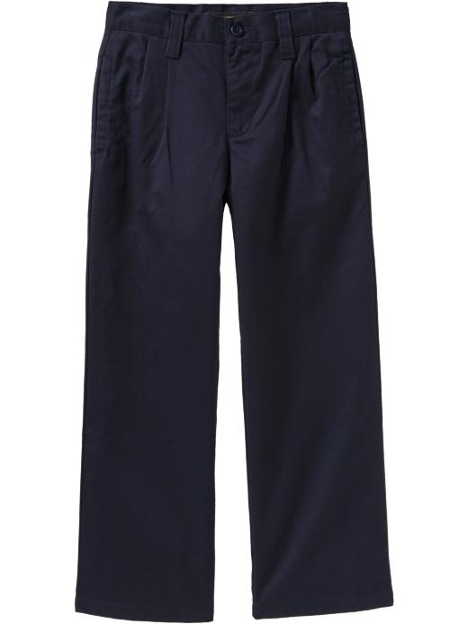 Old Navy Boys Pleated Twill Pants - Uniform blue