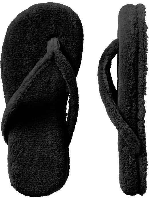 Old Navy Women's Terry Thong Slippers - Black - Old Navy Canada