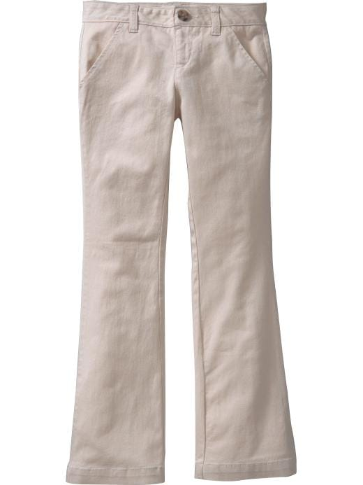 Old Navy Girls Stretch Khaki Uniform Pants - Khaki