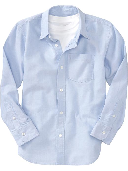 Old Navy Boys Long-Sleeve Oxford Shirts - Chambray blue