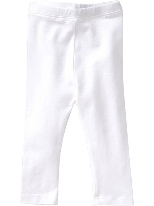 Old Navy Lace-Trim Jersey Leggings For Baby - Bright white