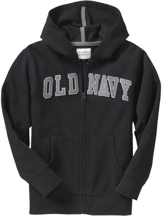 Old Navy Boys Logo Applique Hoodies - Black jack
