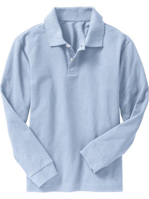 Old Navy Boys Long-Sleeve Pique Polos - Monet blue - Old Navy Canada