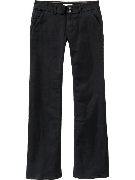 Old Navy Women's The Flirt Wide-Leg Denim Trousers - Black - Old Navy Canada