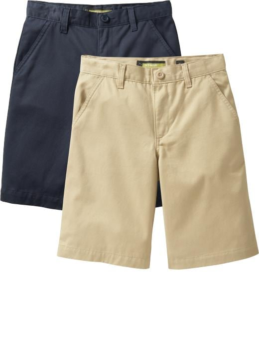 Old Navy Boys Twill Uniform Shorts 2 Packs - Multi
