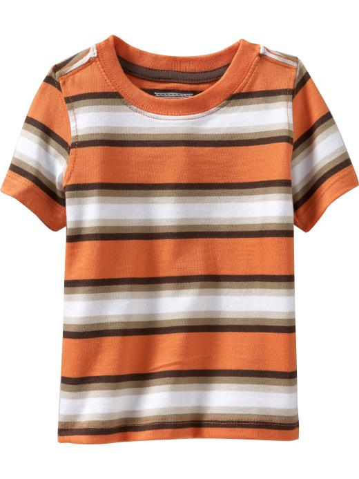 Old Navy Crew-Neck Tees For Baby - Brown/orange stripe - Old Navy Canada