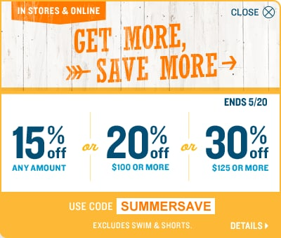 Save up to 30% - use code SUMMERSAVE