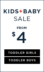 Up to 50% Off Kids + Baby Sale.
