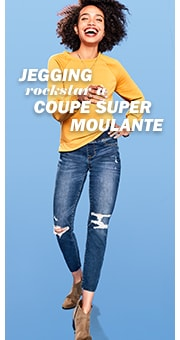 Jegging rockstar à coupe super moulante