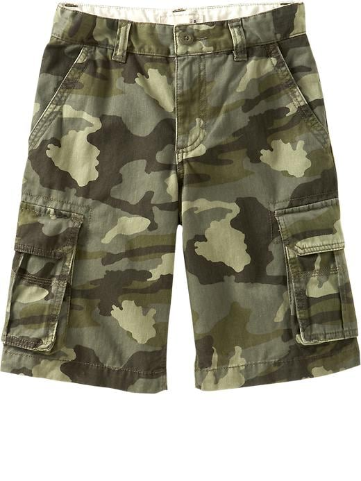 Old Navy Boys Authentic Cargo Shorts - Authentic camouflage
