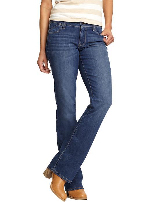 Old Navy Women's The Flirt Boot-Cut Jeans - Dark fade - Old Navy Canada