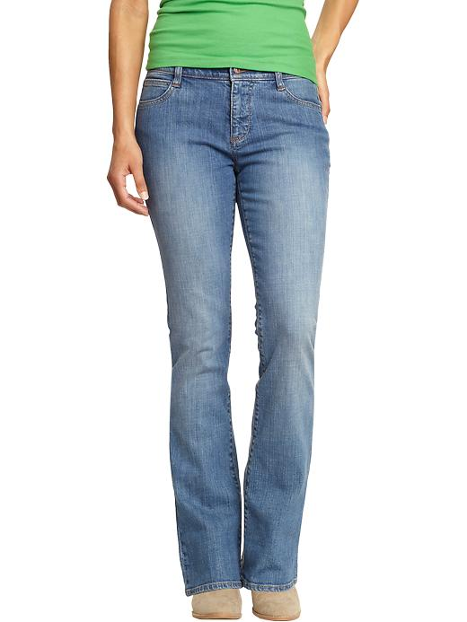 Old Navy Women's The Dreamer Boot-Cut Jeans - Blue jet - Old Navy Canada