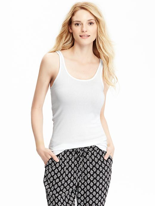Old Navy Women's Jersey Stretch Tanks - Bright white