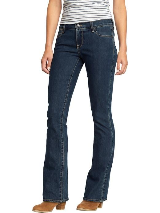 Old Navy Women's The Flirt Boot Cut Jeans - Dark worn
