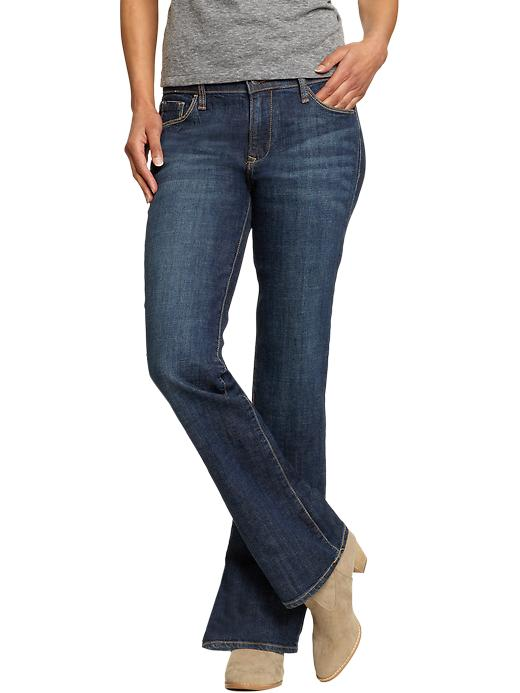 Old Navy Women's The Sweetheart Boot-Cut Jeans - Dark authentic - Old Navy Canada