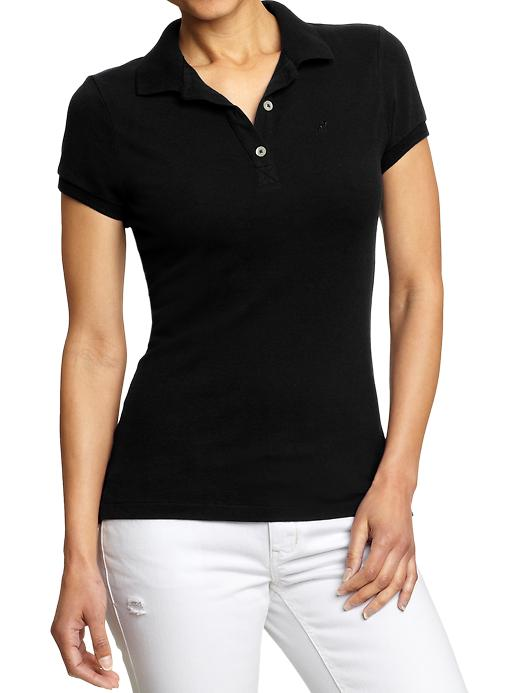 Old Navy Women's Pique Polos - Black jack