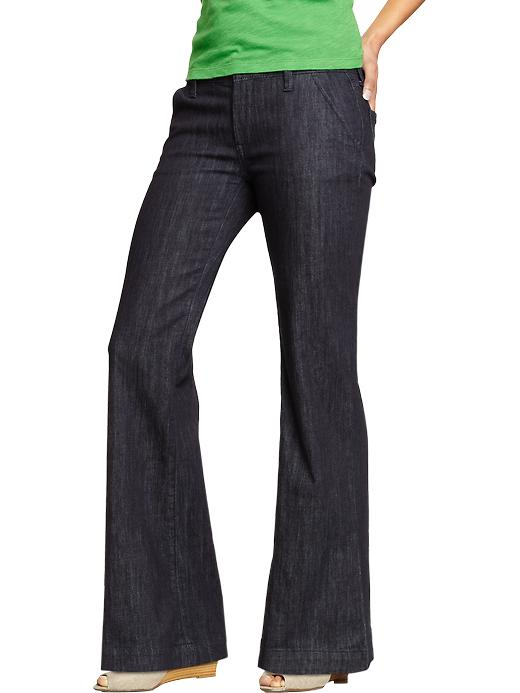 Old Navy Women's Wide Leg Trouser Jeans - Rinse - Old Navy Canada