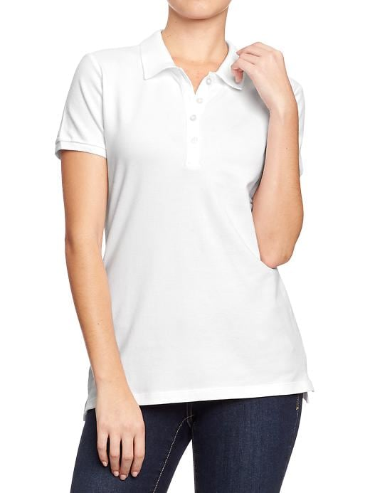 Old Navy Women's Pique Polos - Bright white - Old Navy Canada