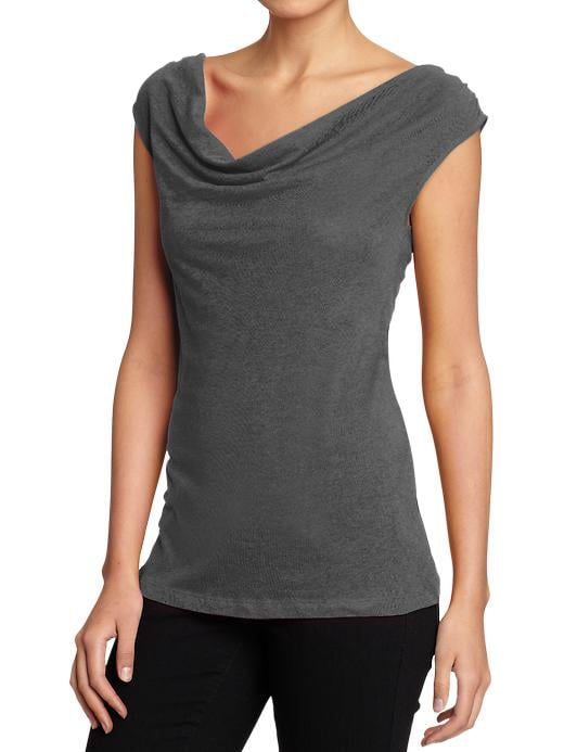 Women's Jersey Cowl-Neck Top
