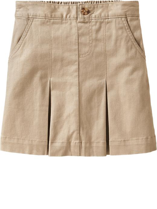 Old Navy Girls Pleated Uniform Skorts - Rolled oats