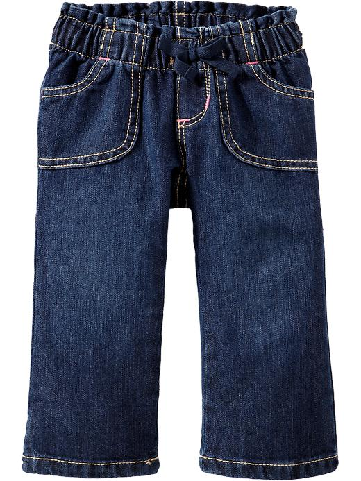 Old Navy Lightweight Pull On Jeans For Baby - Dark wash