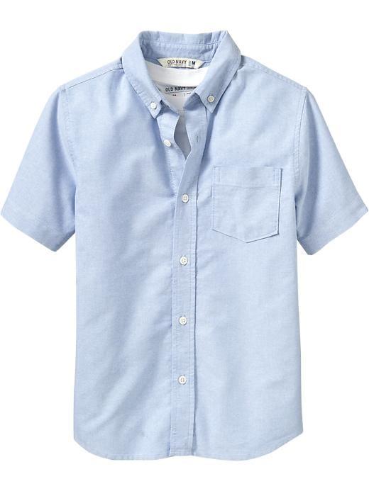 Old Navy Boys Uniform Oxford Shirts - Chambray blue