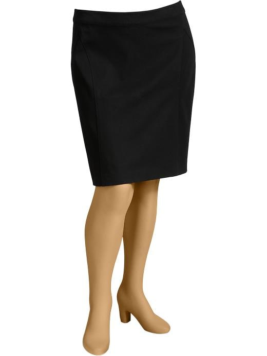 Old Navy Women's Plus Two Way Stretch Pencil Skirts - Black jack