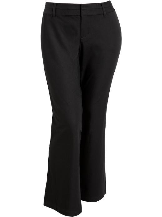 Old Navy Women's Plus Wide Leg Twill Trousers - Black jack