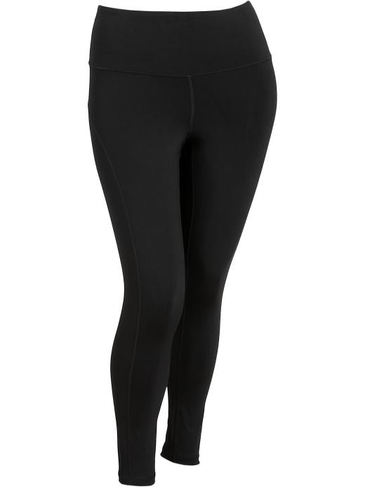 Women's Plus Active By Old Navy Compression Pants - Black jack - Old Navy Canada
