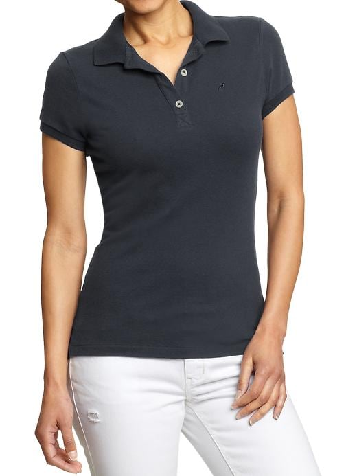 Old Navy Women's Pique Polos - Carbon - Old Navy Canada