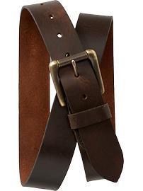 Brown Faux-Leather Belt for Men