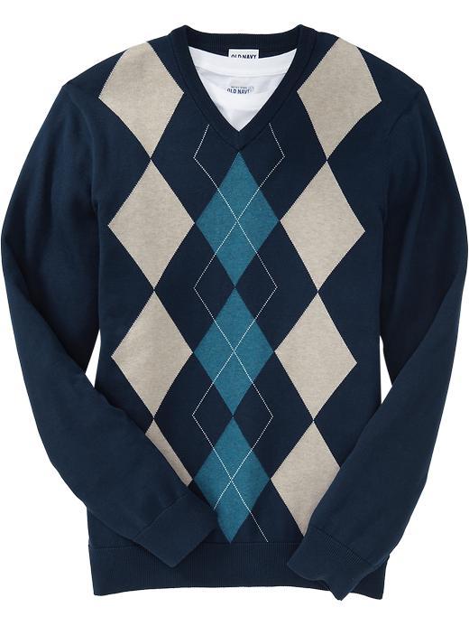 Mens Navy Argyle Sweater Old Navy Men Sweaters Rib Knit