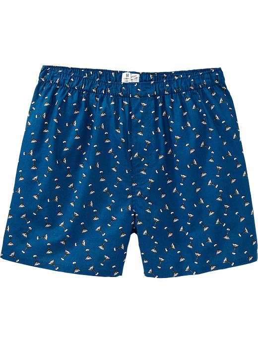 Old Navy Men's Printed Boxers - Blue martini