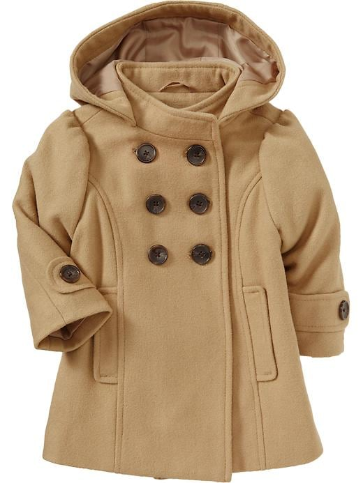 Old Navy Wool Blend Empire Peacoats For Baby