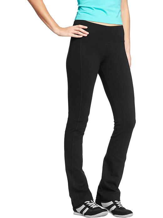 Old Navy Women's Boot-Cut Yoga Pants - Black jack - Old Navy Canada