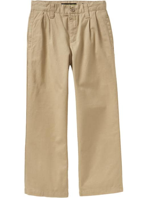Old Navy Boys Pleated Twill Pants - Citoh khaki twill