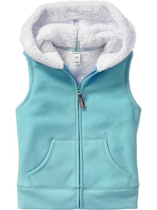 Old Navy Girls Sherpa Lined Micro Performance Fleece Vests