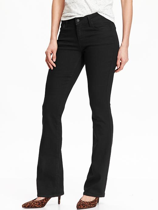Old Navy Women's The Rock Star Demi Boot Jeans - Black jack - Old Navy Canada