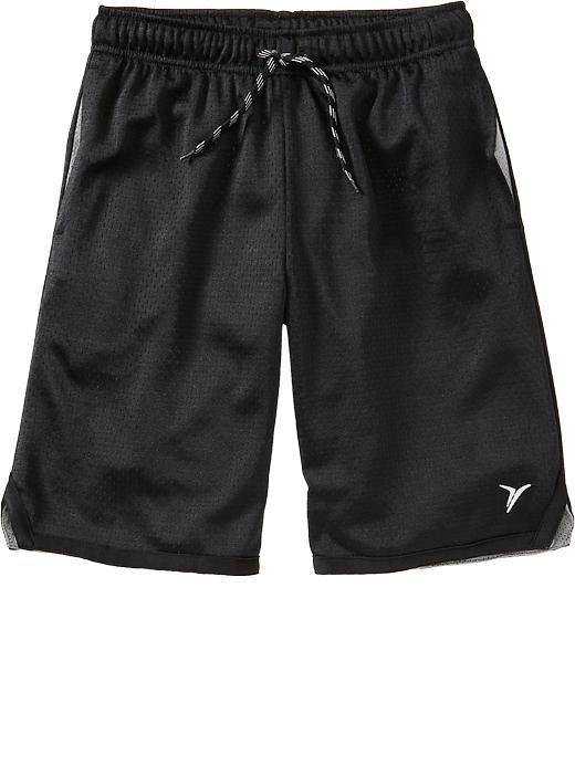 Old Navy Boys Active Mesh Shorts - Black jack