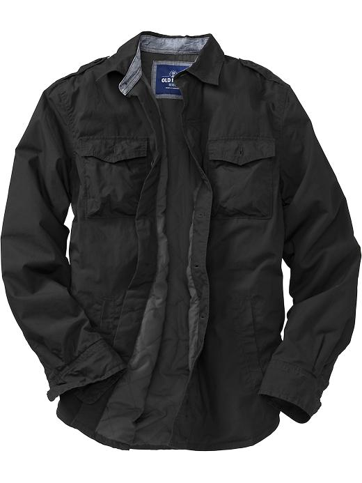 Old Navy Men S Poplin Military Style Shirt Jackets