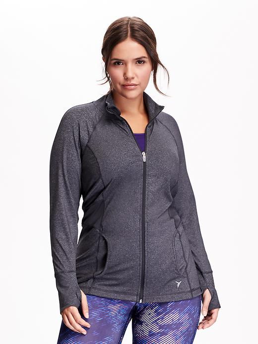 Women's Plus Active By Old Navy Compression Waist Jackets - Carbon - Old Navy Canada