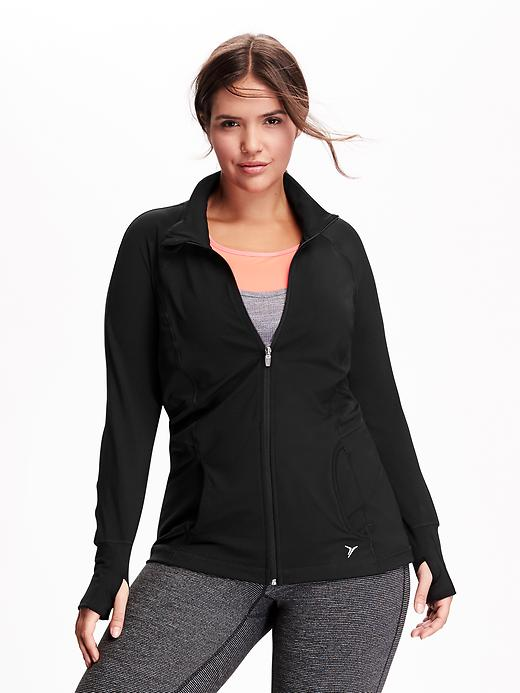 Women's Plus Active By Old Navy Compression Waist Jackets - Black jack - Old Navy Canada