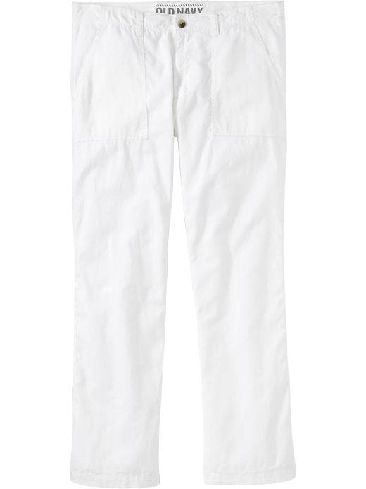 Old Navy Men's Linen Blend Pants - Bright white