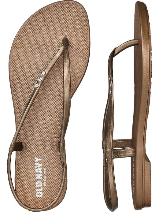 Old Navy Women's Embellished Flip Flop Sandals - Bronze