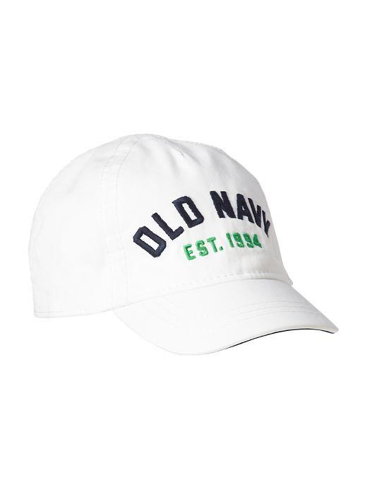 Old Navy Logo Baseball Caps For Baby - Bright white
