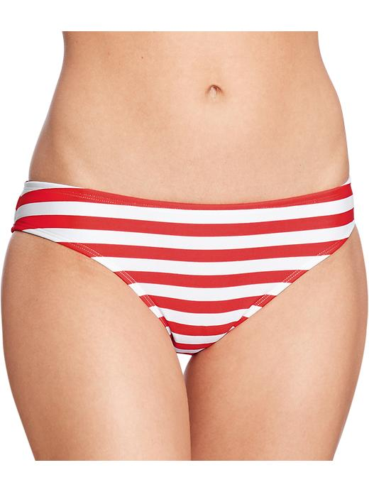 Old Navy Women's Striped Hipster Swim Bottoms - Red stripe - Old Navy Canada
