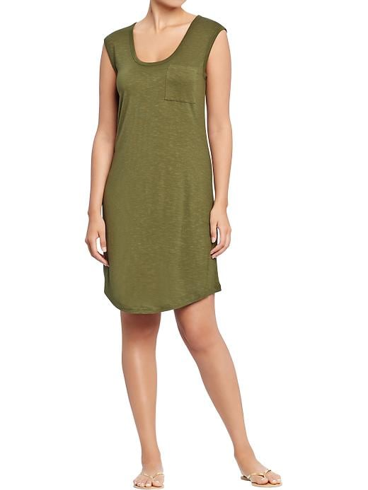 Old Navy Women's Sleeveless Pocket Tee Dresses - Sea turtle
