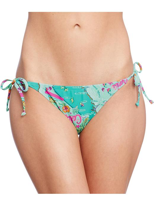 Old Navy Women's Map Print String Bikinis - California poppy btm - Old Navy Canada